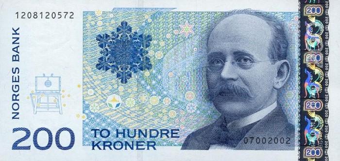 banknote-200-norway-kroner-kristian-birkeland-2002